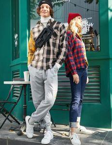 hohe Qualität Fshion langärmelige Shirts für den Herbst Männer Frauen Shirts mit Plaid Art kühler Hip Hop Street 3 Farbe Größe M-3XL tragen
