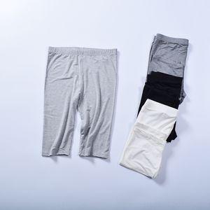 ceK8P pantalones cortos pantalones modal medio tan ajustado y pantalones coreanos Fava se extienden medianas interior mallas finas tocando fondo pantalones de las mujeres