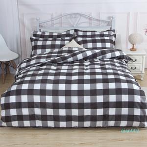 sistemas del lecho de mármol patrón de Sistemas del lecho funda nórdica Set 4 piezas Juego de cama Doble Doble Queen cubierta del edredón de ropa de cama