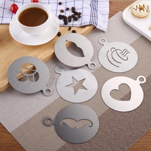 Stainless Steel Garland Mold Fancy Coffee Printing Model Thick Cafe Foam Spray Template Stencils Coffee Decoration Tool Ct0141