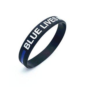 دي إتش إل الحرة اللون الأسود الاسوره الأزرق الأرواح MATTER سوار رقيقة الخط الازرق الزرقاء الأرواح MATTER سيليكون الأساور