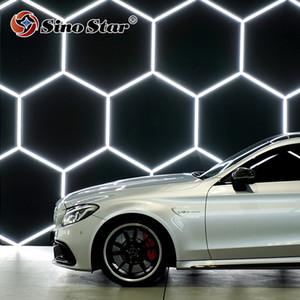 육각형은 자동차 정비 공장 자동차 공장에서 자동차 명확한 페인트 보호 포장에 비추어 중국 공장 가격을 주도 빛 주도