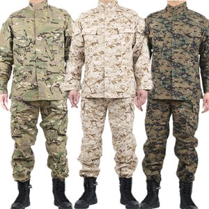 Mens Military Uniform Tactical Clothing Combat Shirt Camouflage Army Militar Soldier Special Forces Coat+Pant Set Maxi XS-2XL CX200826
