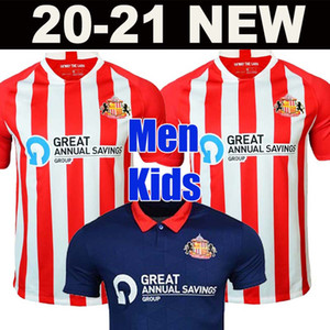 2020 2021 Sunderland Soccer Jerseys Accueil Rouge Whter Honeyman 20 21 Wembley Maja Gooch Maguire Men + Kit Kit Kit Ensemble Bleu Football Shirts