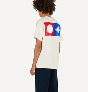 2020 print Lettre T-shirt Homme Femme blanc noir d'été Mode Casual Street T-shirt de rayures de graffiti Designer T-shirt blanc