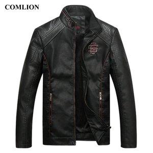 COMLION Faux cuir Vestes Hommes classique de haute qualité de moto Bike Cowboy Manteau Veste Homme plus velours épais manteaux M-5XL C46