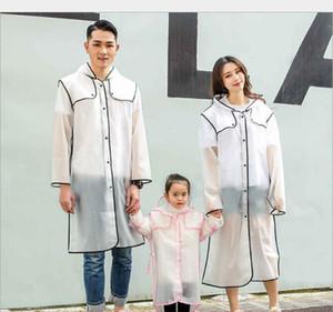 Anti Droplet Transparent Protective Raincoat Outdoor Walking Conjoined Poncho EVA Long Size Scrub Raincoat Household Sundries HA1177