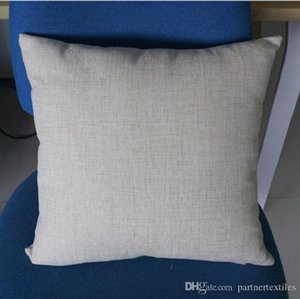 18x18 inches polyester linen pillow case sublimation blanks poly burlap fabric pillow cover blanks for DIY heat press printing