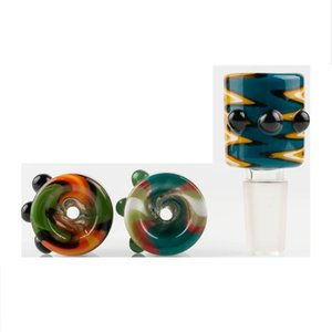Funny 14mm 18mm Glass Bowls For Bongs Male Joint Colorful Smoking Glass Bong Bowl Piece For Glass Bongs Oil Rigs Water