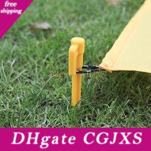 10pcs Outdoor Camping Tent Tenda di plastica a terra Stakes Peg Multi -purpose terra Nail Tenda Nail Nails spirale Horn plastica