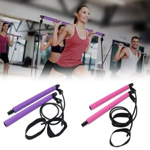 2pcs Yoga Pilates élastique Tube bandes de résistance Bodybuilding Fitness Equipment