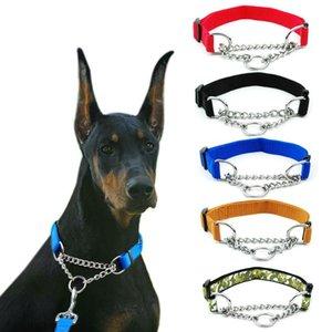 Collar de perro del gato del perro del perrito de nylon collar personalizado etiqueta personalizada para mascotas Correa Placa de identificación ID collares ajustables para perros grandes