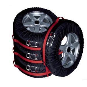 4pcs Car Tire Protection Cover Spare Tire Cover Snow Dust Convenient Collection Storage Bag