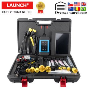LAUNCH x431 V Plus X431 HDIII heavy duty diagnostic tool 24v truck full sysyem diagnostic scanner BT connect update online