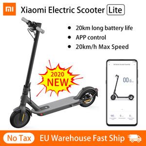 새로운 Xiaomi MI 전기 스쿠터 Lite 스마트 Foldable 스쿠터 스케이트 보드 250W 모터 20km Rang 미니 Patinete 스케이트 보드
