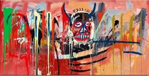 """Jean Michel Basquiat """"Satan"""" Abstract Expressionism art Wall Decor Oil painting On Canvas Wall Art Canvas Picture 200822"""
