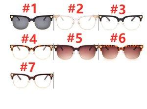 الأزياء الإطار عدسة البصرية شبه إطارات واضح رجل نصف معدن الأشعة فوق البنفسجية نظارات نظارات بدون شفة weudw