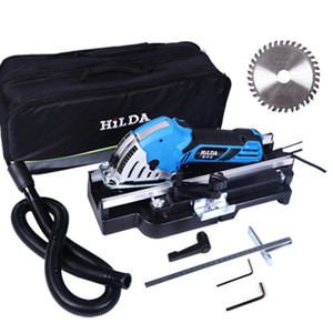 500W Mini elétrica Circular Saw Saw DIY Multifunctional Electric Power Tools ferramenta rotativa lâminas de serra circular para 220V madeira