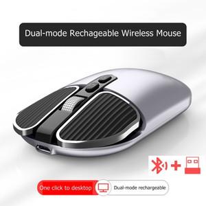 USB Bluetooth 5.1 / 2.4 G Wireless Mouse Dual-Mode Rechatgeable desktop notebook mouse para casa e escritório silenciosas Chaves mais novo Multi-Cor M203