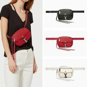 Femmes Sac de taille petite femelle Tassel mignon pack drôle Sac de verrouillage poitrine Mini Casual ceinture pour Lady UbWN #