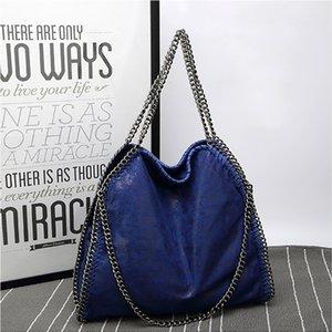 Новая мода цепи женская сумка Сплошной цвет Складная Tide плечо сумка Женский пакет Pu Матовый кожаные сумки Для женщин Роскошная сумка сумки