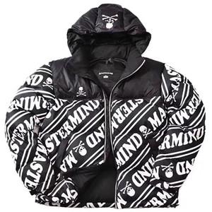 Manera- X Mastermind MMJ cráneo Nuptse por la chaqueta logotipo bordado Coats Pareja capa del invierno de la montaña de vestir exteriores caliente de moda HFLSYRF060
