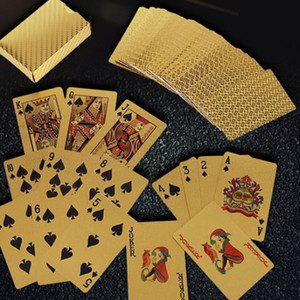 Waterproof Gold Foil Playing Card, Party Bar KTV Applicable, Novelty Gifts And Toys, Washable,Not Easy To Deformation Poker