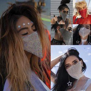 Gioielli di lusso Bling d'avanguardia strass Maschera Jewlery per monili delle donne del fronte di corpo Night Club Gioielleria decorativo mascherine del partito DHL