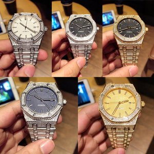 Audemars Piguet ap Золотые мужские часы дизайнера Royal Oak Offshore Chronograph Функция Алмазный Полный Iced Out часы Мужские кварцевые часы качества rYeM #