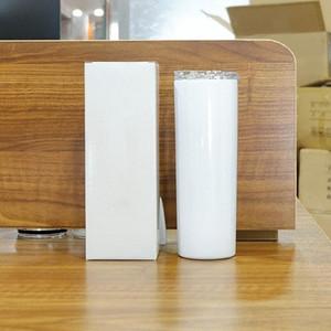 DHL envía 20 oz sublimación en blanco flaco del vaso de acero inoxidable de DIY Copa Copas doble pared de la cabina taza de cerveza de café