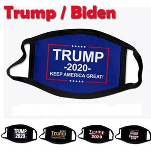 Maschere viso Designer Donald Trump Biden 2020 Bocca Moda Presidente Elezione Adulto Bambino Maschera stampa USA 3D