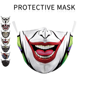 Face Designer Face Mask Funny Printing Reusable 2-filters Mask Smile Facemask Mascarilla Dhl Shields With Washable Adult Fashion M Vahse