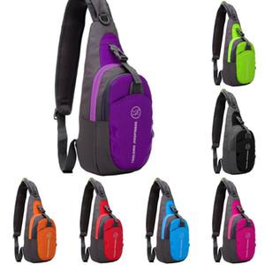 واحد الكتف الرياضة الصدر حقيبة 7 ألوان في الهواء الطلق تشغيل حزم الخصر الصيد المشي لمسافات طويلة حقيبة التخزين OOA8361
