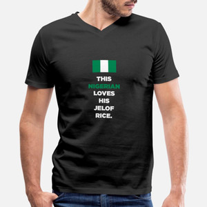 Esta nigeriana de Nigeria ama a su Jelof Rice hombres de la camiseta diseñador de la camiseta redonda del cuello de la moda ropa suelta camisa Cartas del otoño del resorte
