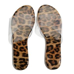 Moda Verano 2020 de las mujeres del grano del leopardo plana del deslizador de la playa de sandalias casuales shooes mujeres D2 # 2