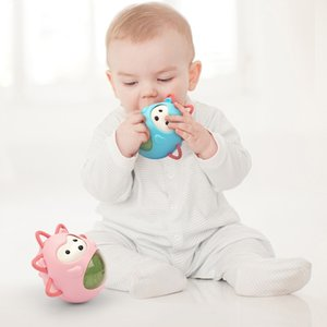 Cute Baby Tumbler bambino bagno giocattoli Carino riccio denti Newborn smerigliatrice Giocattoli di musica dell'ABS regalo materiale bambino