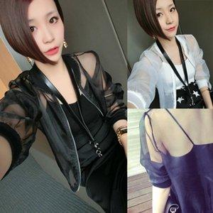 hTyUX PBvny Corea grandes ropa de color sólido traje de ropa de mujer ropa de béisbol organza de protección solar ropa de protección solar de la capa del béisbol del tamaño del sol p