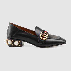 2020 populäre Art schwarz weiße Frauen echtes Leder Luxurys Designer-Kleid Schuhe hochwertiger Damenmode Schuhe Dame formale Schuhe