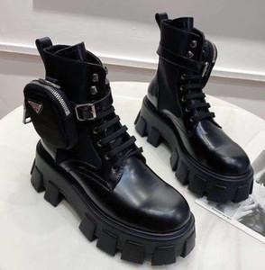 Designer estourar moda de alta qualidade fivela preta com zíper curto Ankle Boots mulheres de couro confortáveis botas Martin