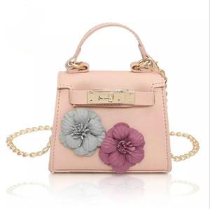 Diseñador hecho a mano partido de las flores de noche bolso de la manera muchacha de las mujeres mini del hombro Bag Lady Mujer pequeña cadena bandolera