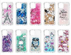 Для Iphone 12 11 Pro Max X 8 7 6 LG Stylo 6 K51 K31 противоударный Quicksand Soft TPU Case Unicorn Bling Liquid Обложка Dreamcatcher Сова Блеск