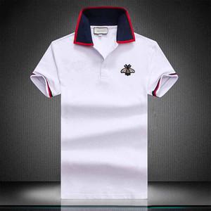 Мужчины поло Bermuda 2022 Европейский хип-хоп печати с короткими рукавами поло летом новый раунд шеи вышивка хлопок мужчины рубашка поло