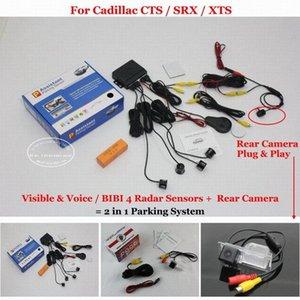 Liislee için CTS / SRX / XTS - Araba Park Sensörleri + Geri Geri Görüş Kamerası = 2 1 Görsel BIBI Alarmı Park Sistemi 57bZ # da