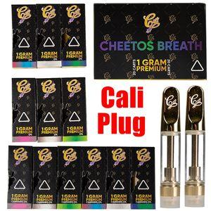 Cali Stecker Cartridges 0,8 ml Keramik Vape Cartridges Dab Wax Vaporizer 510 Gewinde Carts 1 ml