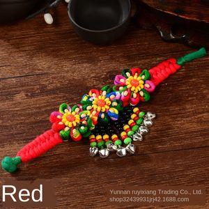 Yunnan Özel kumaşı Bell styledance performans turistik mekanlara el sanatları Milliyet Grubu Şakayık Yunnan Özel kumaşı Bell bilezik eth