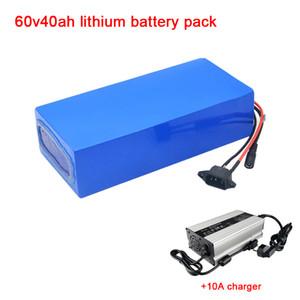 Motocicleta personalizada eléctrico triciclo lítio recarregável ião 60V 40AH 30Ah 50Ah bateria de lítio pacote + carregador 10A