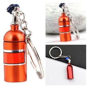 Turbo Nitrogen Oxide Bottle Decoration Car Keychain Key Ring Holder Pendant For Women Men Unique Mini Home Keyring Stylish