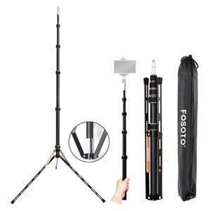 fusitu FT-220 Carbon Fiber Light Stand cabeça Softbox Para Photo Studio Led fotográfica Iluminação Tripé flash Umbrella Reflector