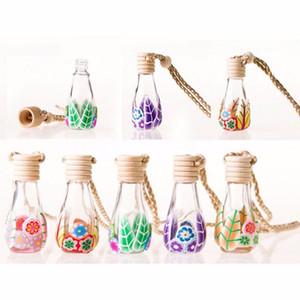 Essência 8-15ml Polymer Clay Vidro Oil Difusor Perfume garrafa vazia Car presente Pendure Decoração Tourist lembranças do partido