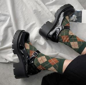Kleine Lederschuhe Frauen 2020 Frühlingsmodelle Schuhe Mary Jane Frauen japanischen High Heels retro Plattformschuhe Frauen
